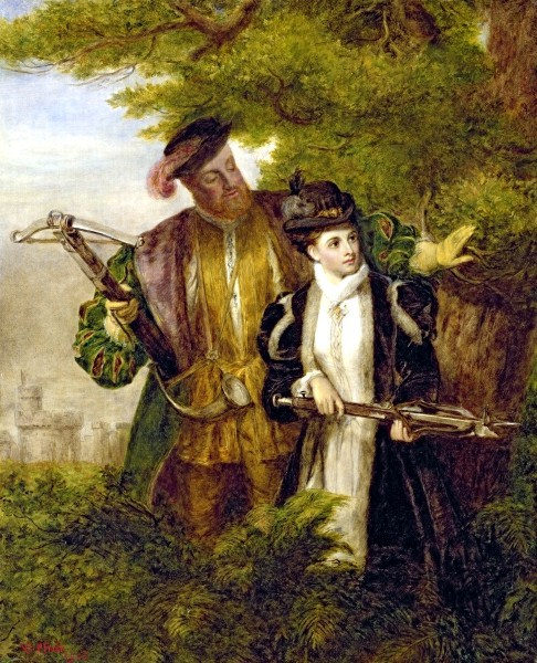 king_henry_and_anne_boleyn_deer_shooting_in_windsor_forest